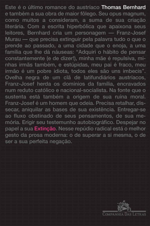 """Thomas Bernhard em """"Extinção"""""""